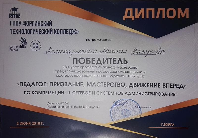 Победитель конкурса профессионального мастерства